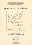 Guy Lavorel et Laurence Richer - Quinet en question.