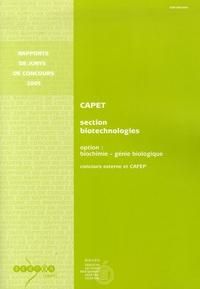 Guy Leyral - Certificat d'Aptitude au Professorat de l'Enseignement Technique (CAPET) Section Biotechnologies Option BIochimie génie biologique - Concours externe et CAFEP.