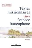 Guy Poirier - Textes missionnaires dans l'espace francophone.