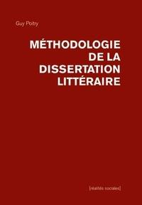 Guy Poitry - Méthodologie de la dissertation littéraire.