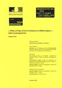 Guy Saez - Villes et pays d'art et d'histoire en Rhône-Alpes : bilan et perspectives.