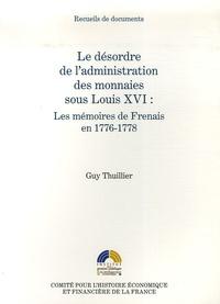 Era-circus.be Le désordre de l'administration des monnaies sous Louis XVI - Les mémoires de Frenais en 1776-1778 Image