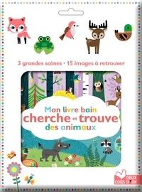 Gwé - Mon livre bain cherche et trouve des animaux - 4 grandes scènes - 19 images à retrouver.