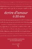 Gwenaëlle Abolivier - Ecrire d'amour à 20 ans.