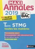 Gwenaëlle Lefebvre et Franck Levavasseur - Toutes les matières Tle STMG - 100 sujets corrigés.