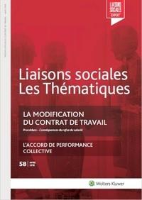 Gwennhaël François - La modification du contrat de travail.