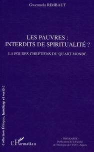 Gwennola Rimbaut - Les pauvres : interdits de spiritualité ? - La foi des chrétiens du quart monde.
