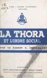 H. Heinemann et M. Sal - La Thora et l'ordre social.
