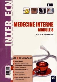 H. Letich et Patricia Alexeline - Médecine interne - Module 8.