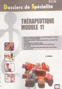 H Perrin - Therapeutique module 11.