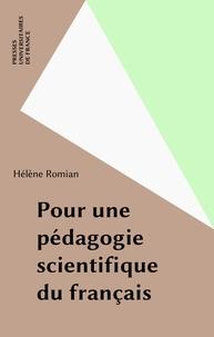 H Romian - Pour une pédagogie scientifique du français.
