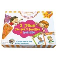 Thérèse Bonté - 2 jeux : jeu des 7 familles + bataille - Dès 5 ans.