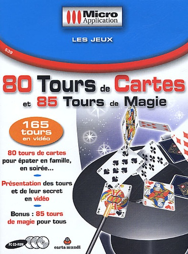 Micro Application - 80 tours de cartes et 85 tours de magie. - 3 CD-ROM.