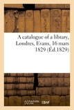 Évans - A catalogue of a library.