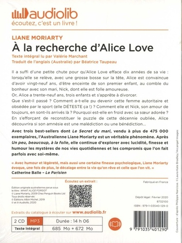 A la recherche d'Alice Love  avec 2 CD audio MP3