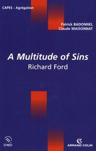 Patrick Badonnel et Claude Maisonnat - A multitude of Sins - Richard Ford.