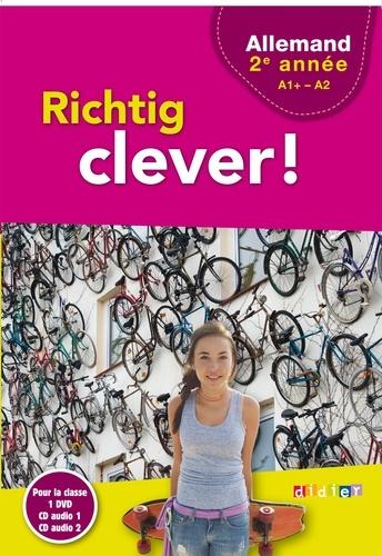 Lars Schneider - Allemand 2e année A1+-A2 Richtig clever!. 1 DVD + 2 CD audio
