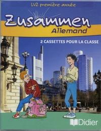 Norbert Biscons et Martine Dalmas - Allemand LV2 1e année Zusammen - 2 cassettes pour la classe.