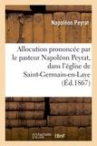 Napoléon Peyrat - Allocution prononcée par le pasteur Napoléon Peyrat, église de Saint-Germain-en-Laye, 4 avril 1866.