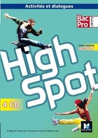 Annick Billaud et Estelle Cavelier - Anglais 2de/1re/Tle Bac Pro A2-B1+ High Spot. 4 CD audio