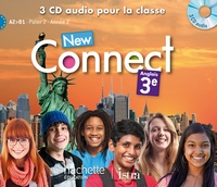 Wendy Benoit et Christelle Berger - Anglais 3e New Connect. 3 CD audio