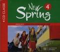 Françoise Lemarchand et Kathleen Julié - Anglais 4e New Spring - 4 CD audio classe.