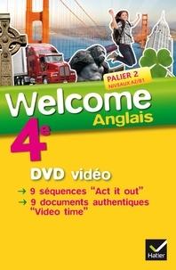 Evelyne Ledru-Germain et Nathalie Hollinka-Rousselle - Anglais 4e Palier 2 niveaux A2/B1 Welcome. 1 DVD