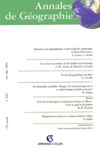 Armand Colin - Annales de géographie N° 622 novembre-décembre 2001.