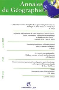 Armand Colin - Annales de Géographie N° 625 Mai-Juin 2002.