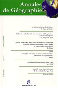 Pierre Papon et Laurent Touchart - Annales de Géographie N° 632, juillet-août : .