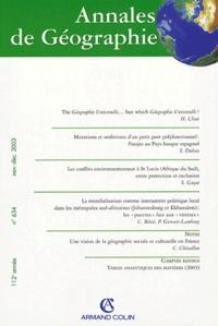 Hugh Clout et Stéphane Dubois - Annales de Géographie N° 634 Novembre-Déce : .