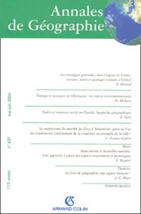 Bénédicte Durand et Michel Deshaies - Annales de Géographie N° 637 Mai-Juin 2004 : .