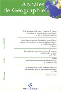 Coraline Cao et  Chouinard - Annales de Géographie N° 642, Mars-Avril 2 : .