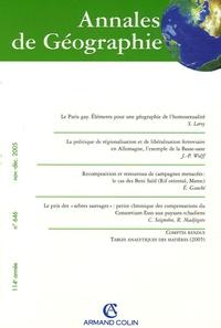 Stéphane Leroy et Jean-Pierre Wolff - Annales de Géographie N° 646 Novembre-Déce : .