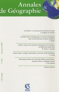 André Dauphiné et Damienne Provitolo - Annales de Géographie N° 654, Mars-Avril 2 : .