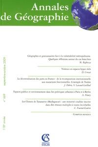 Magali Reghezza et Dominique Crozat - Annales de Géographie N° 669, Septembre-oc : .
