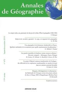 Serge Bourgeat et Guy Di Méo - Annales de Géographie N° 675, septembre-oc : .