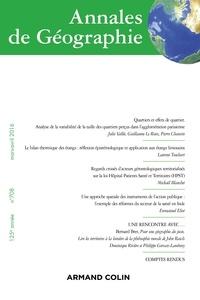 Nathalie Jouven - Annales de Géographie N° 708, mars-avril 2 : .