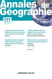 Anonyme - Annales de Géographie N° 721, 2018 : Varia.