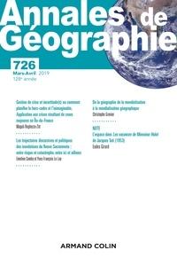 Armand Colin - Annales de Géographie N° 726, 2/2019 : .