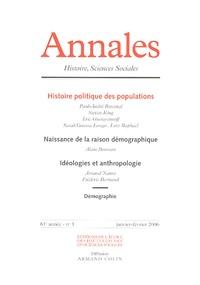 Paul-André Rosental et Steven King - Annales Histoire, Sciences Sociales N° 1, Janvier-févrie : Histoire politique des populations.