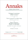 Armand Colin - Annales Histoire, Sciences Sociales n° 2 Mars-Avril 2000.