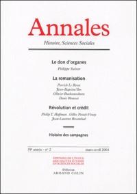 Philippe Steiner et Patrick Le Roux - Annales Histoire, Sciences Sociales N° 2, Mars-Avril 200 : .