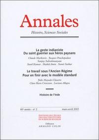Claude Markovits et Jacques Pouchepadass - Annales Histoire, Sciences Sociales N° 2, Mars-Avril 200 : .