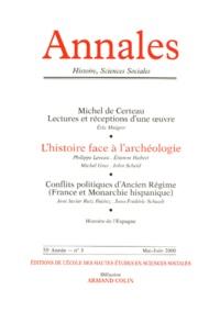Armand Colin - Annales Histoire, Sciences Sociales N° 3 Mai-Juin 2000.