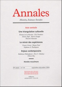 Etienne de La Vaissière et Eric Trombert - Annales Histoire, Sciences Sociales N° 5-6, Septembre-Dé : Asie centrale.