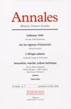 Georges Didi-Huberman et Gérard Lenclud - Annales Histoire, Sciences Sociales N° 5, Septembre-Octo : .