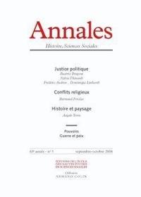 Sylvie Thénault - Annales Histoire, Sciences Sociales N° 5, Septembre-Octo : .