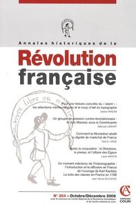 Valeria Pansini - Annales historiques de la Révolution française N° 354, Octobre / Dé : .