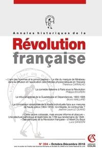 Anonyme - Annales historiques de la Révolution française Volume 4 N°394, décm : .